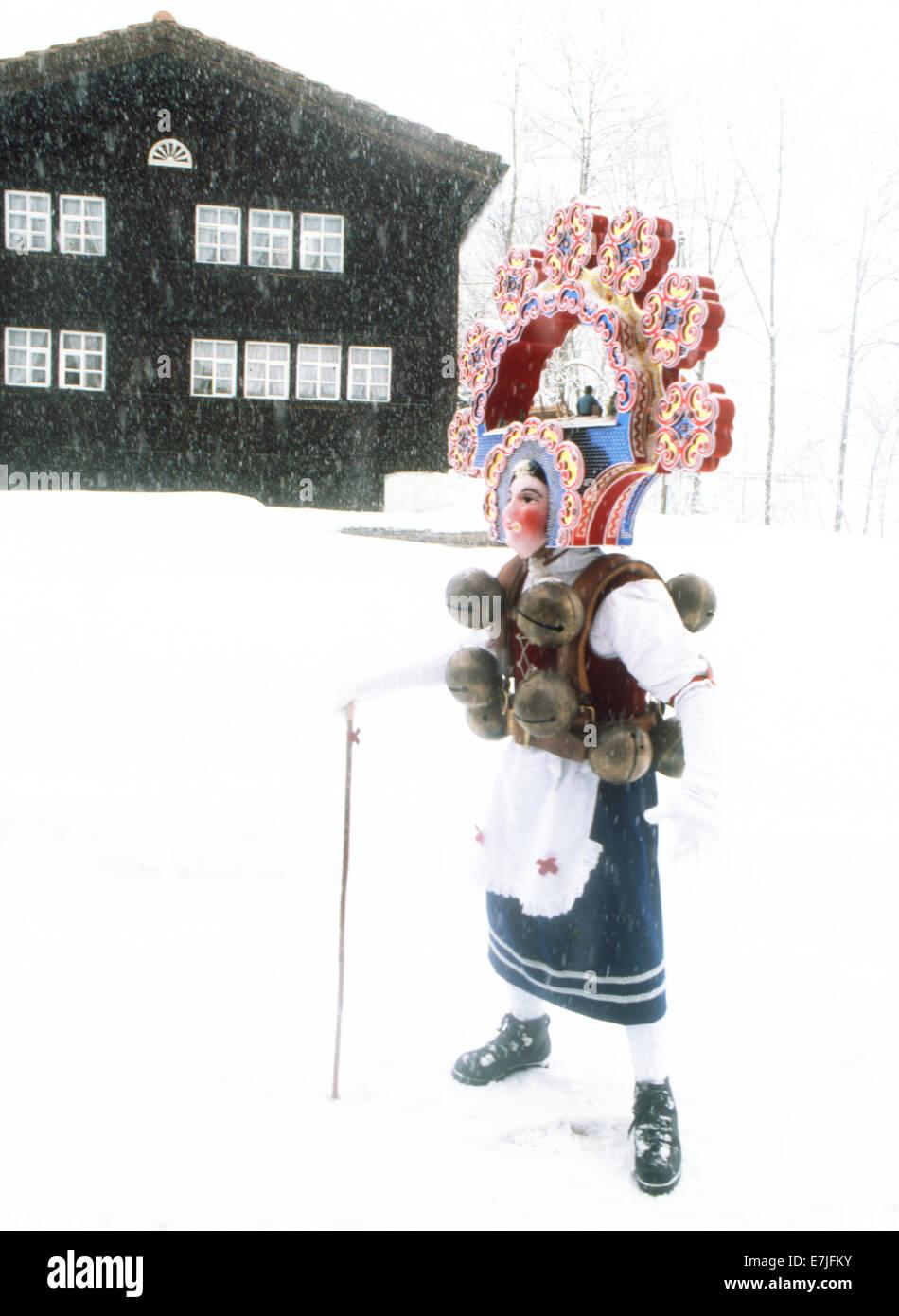 Silvesterklausen, Julian New Year, Appenzell, Switzerland - Stock Image