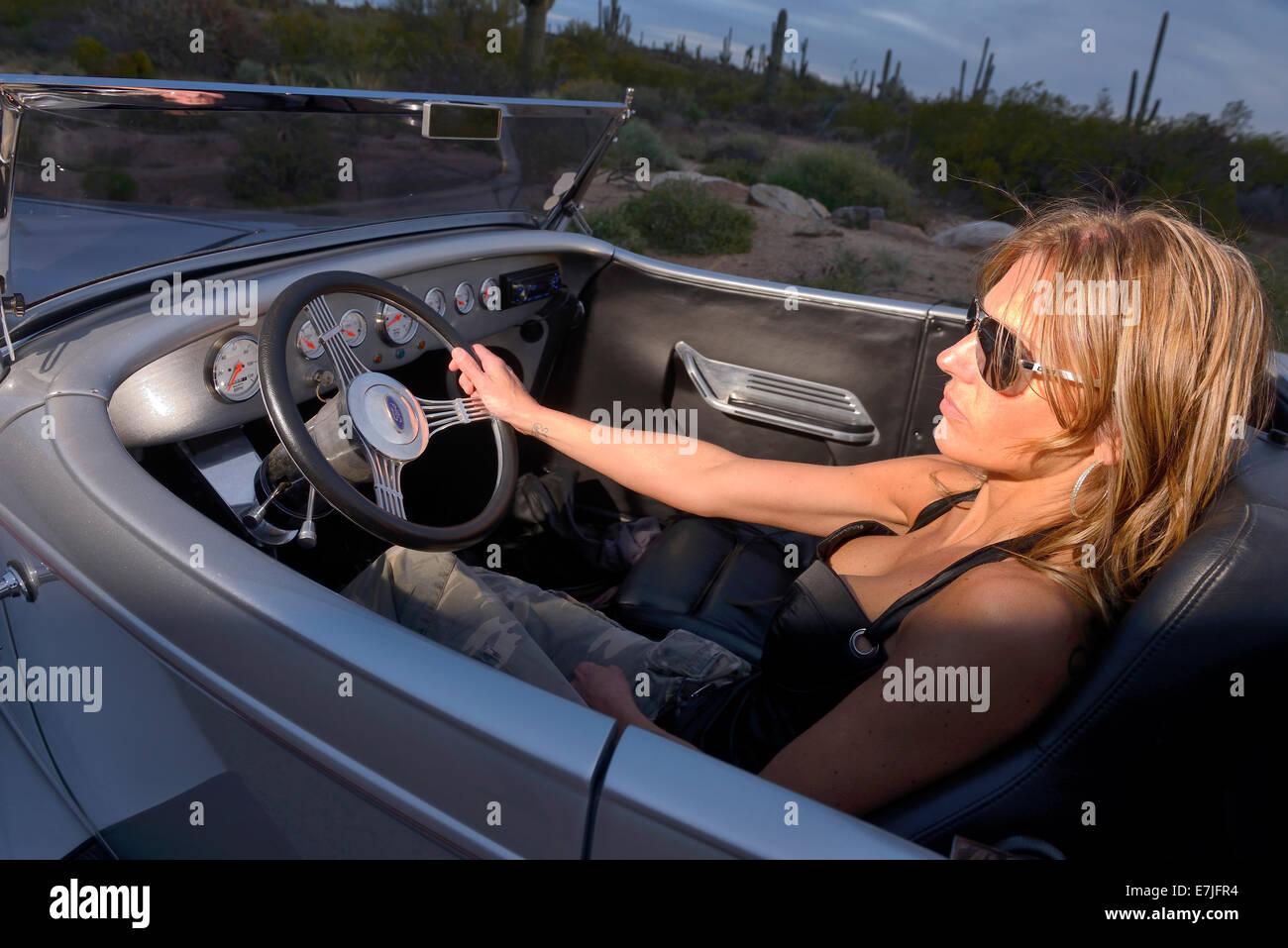 Hot blonde in car-3520