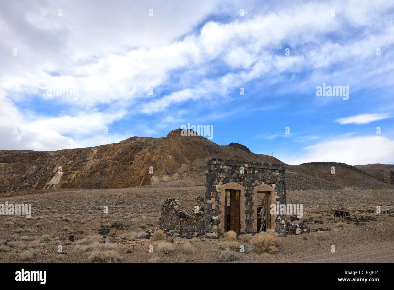 USA, United States, America, Nevada, Candelaria, Ghost town, history, Tonopah, mining, abandoned, americana, desolation, - Stock Image