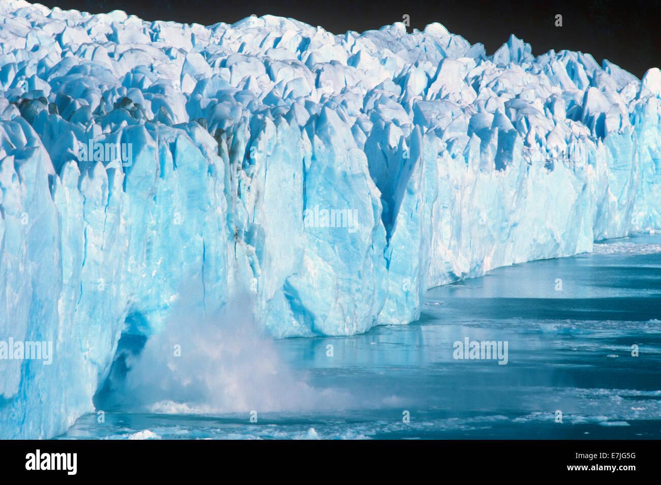 Perito Moreno, Glacier, Lago Argentino, Patagonia, Argentina - Stock Image