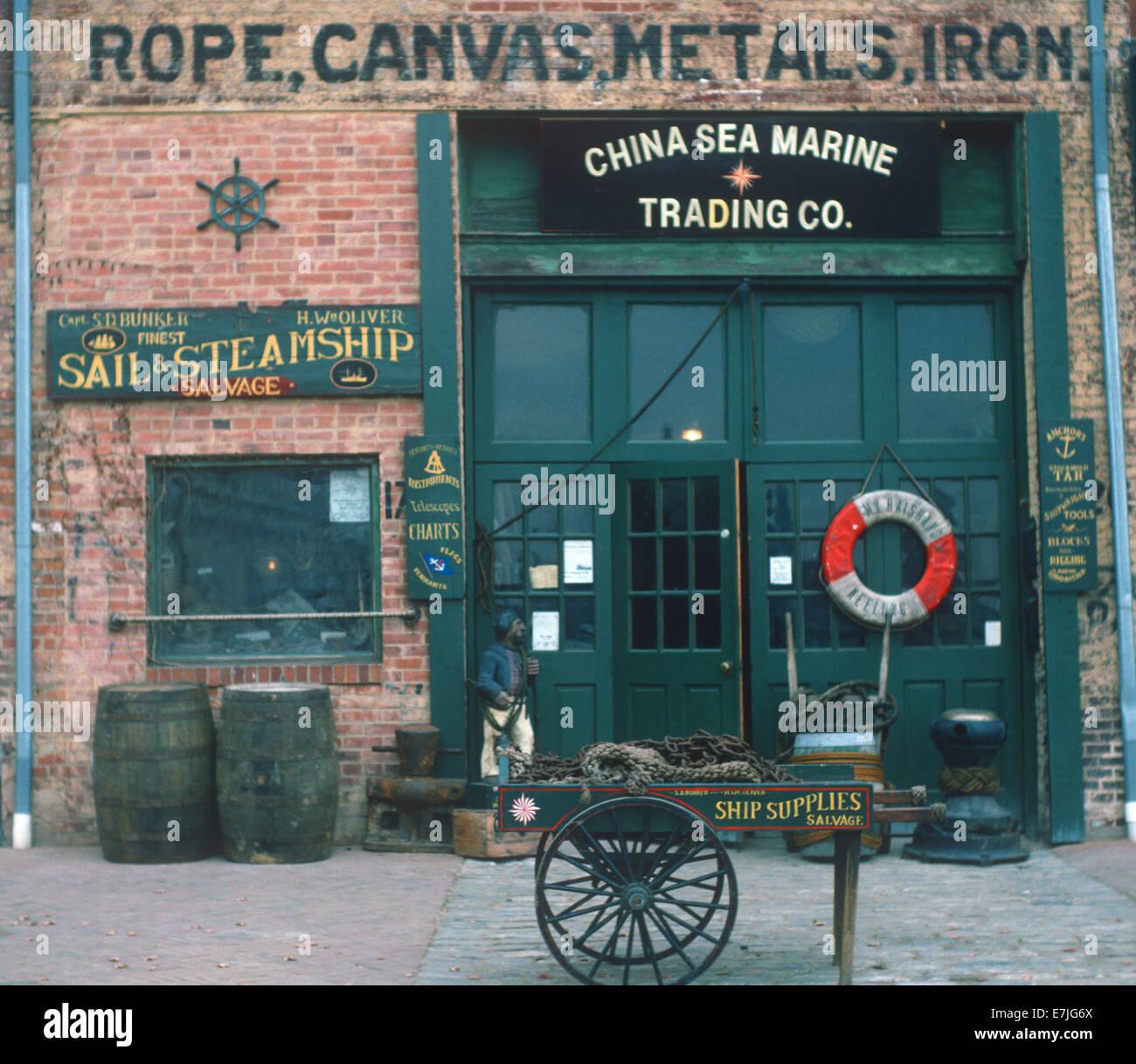 China Sea Marine Trading Company, Fells Point, Baltimore, Maryland - Stock Image