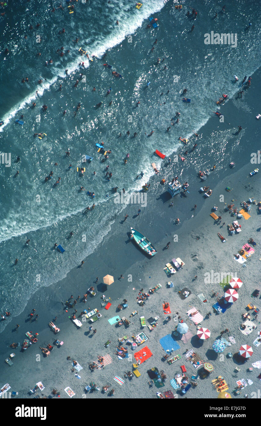 Aerial, Beach, New Jersey - Stock Image