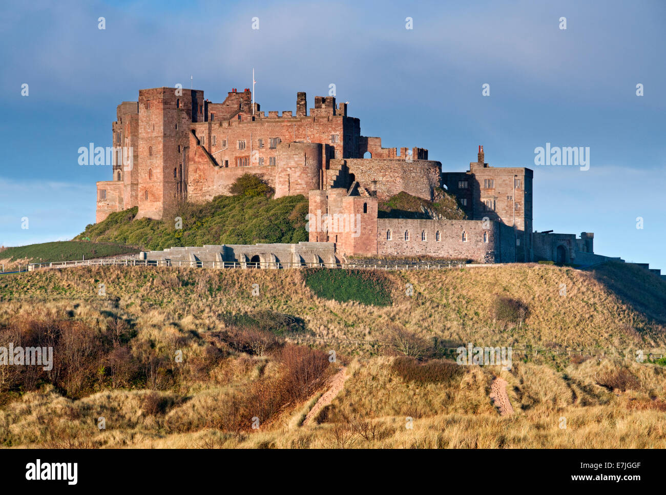 Bamburgh Castle, Bamburgh, Northumberland, England, UK - Stock Image