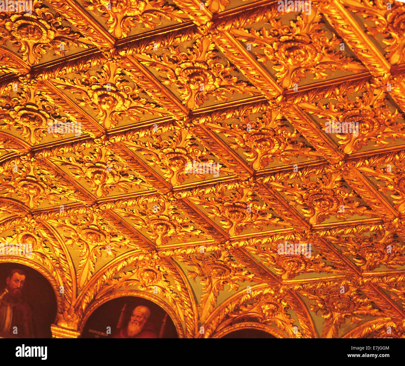 Ceiling, Meeting Room, Breakers Hotel, West Palm Beach, Florida - Stock Image