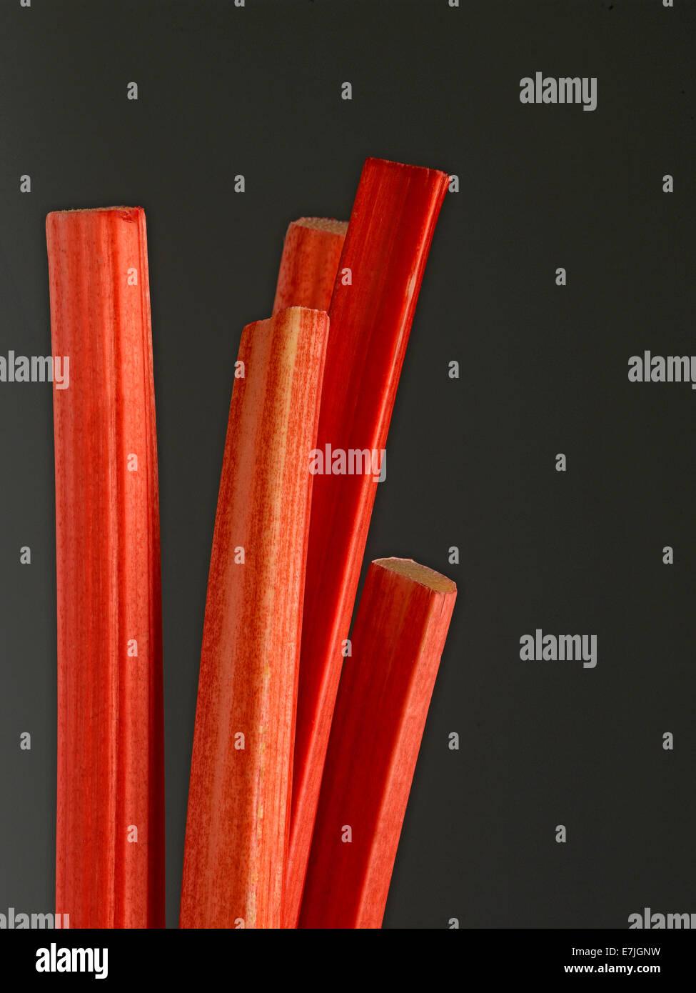 Rhubarb sticks - Stock Image