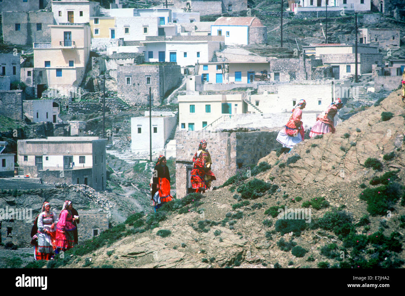 Easter Celebration, Olymbos, Karpathos, Greece Stock Photo