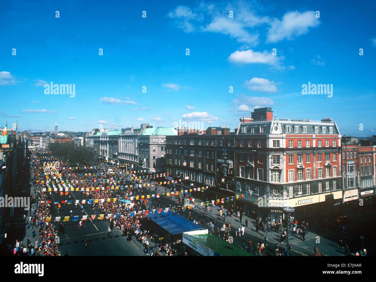 St. Patrick's Day Parade, Dublin, Ireland - Stock Image