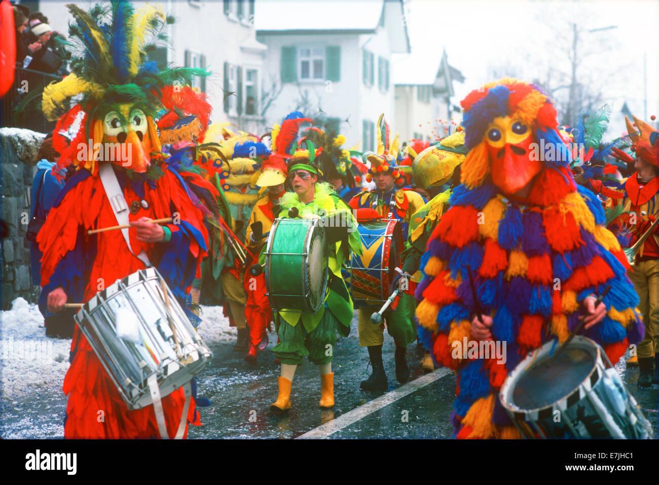 Mardi Gras, Schaan, Liechtenstein - Stock Image