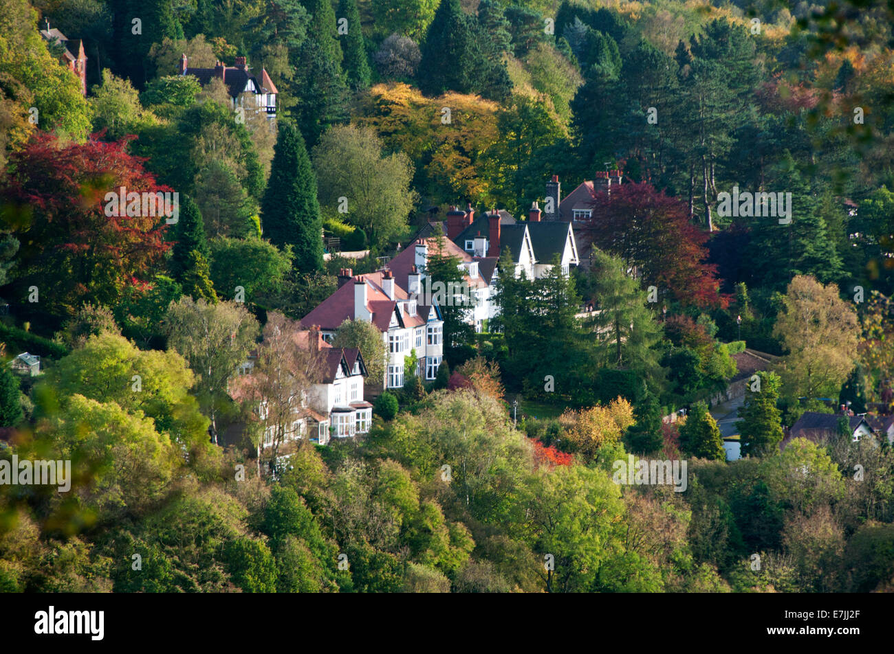 Autumn Colours at Nether Padley,Peak District National Park, Derbyshire, England, UK - Stock Image