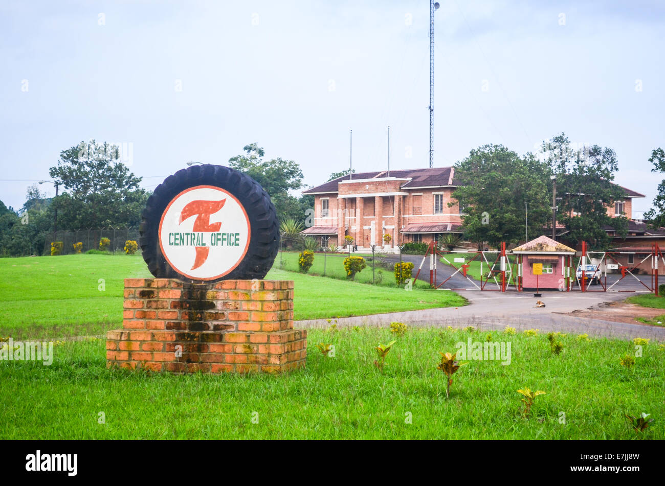 Central office of the Firestone Natural Rubber Company plantation in Liberia - Stock Image