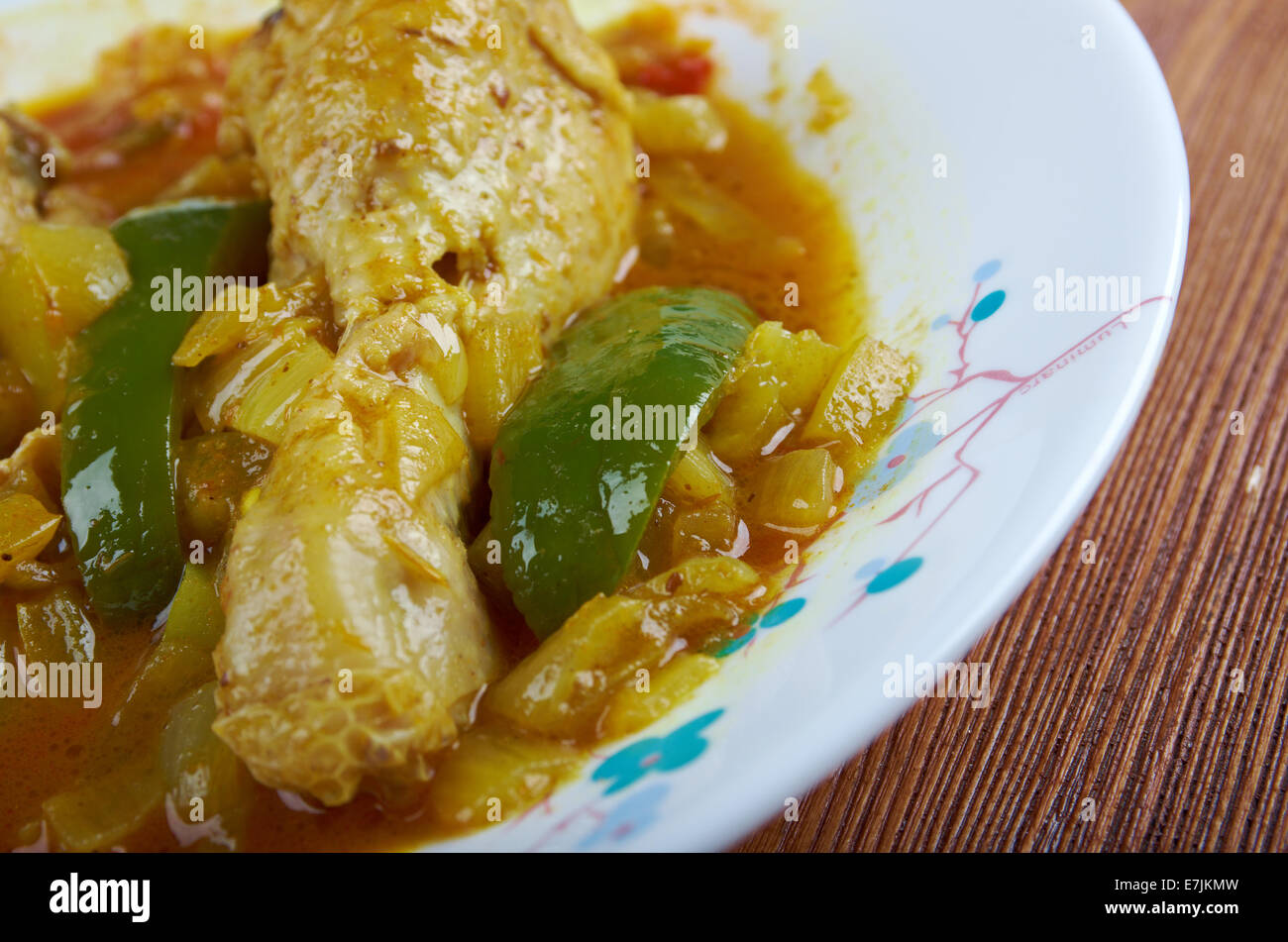 Hkatenkwan Ghanaian chicken and groundnut stew.popular in sub-Saharan African cooking - Stock Image