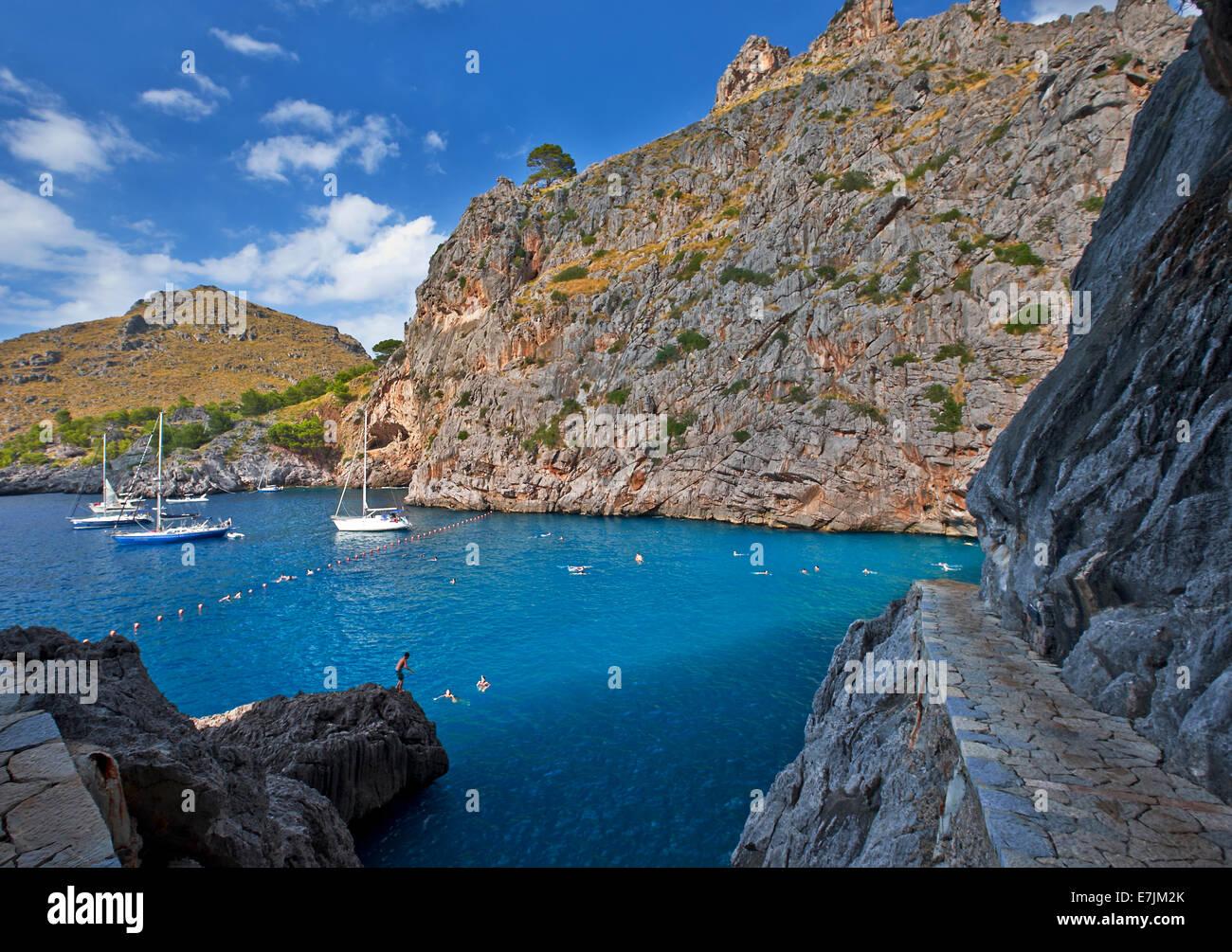 Road to Sa Calobra canyon.Majorca, Balearic islands.Spain. - Stock Image