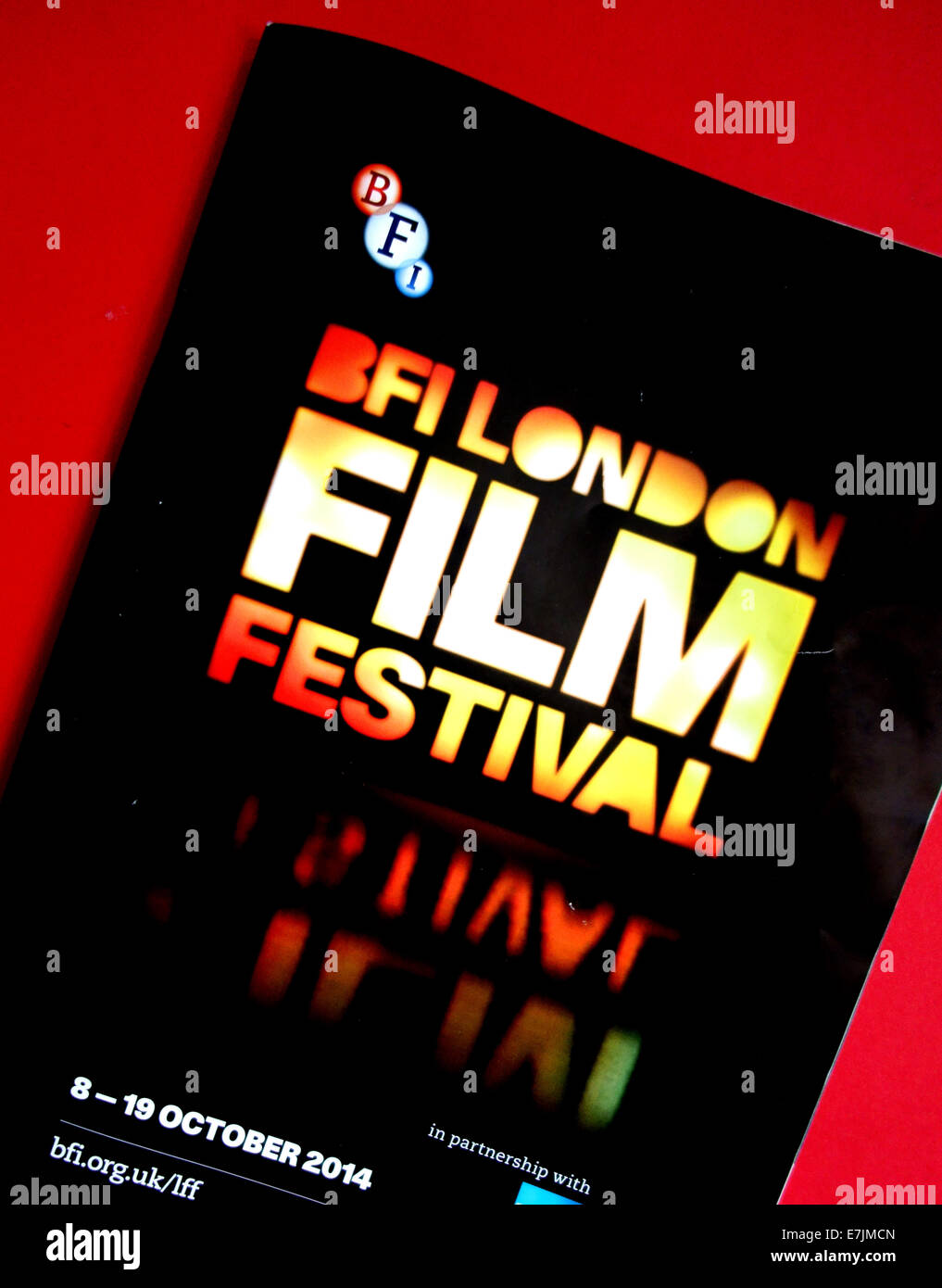 2014 BFI London Film Festival official programme, London - Stock Image