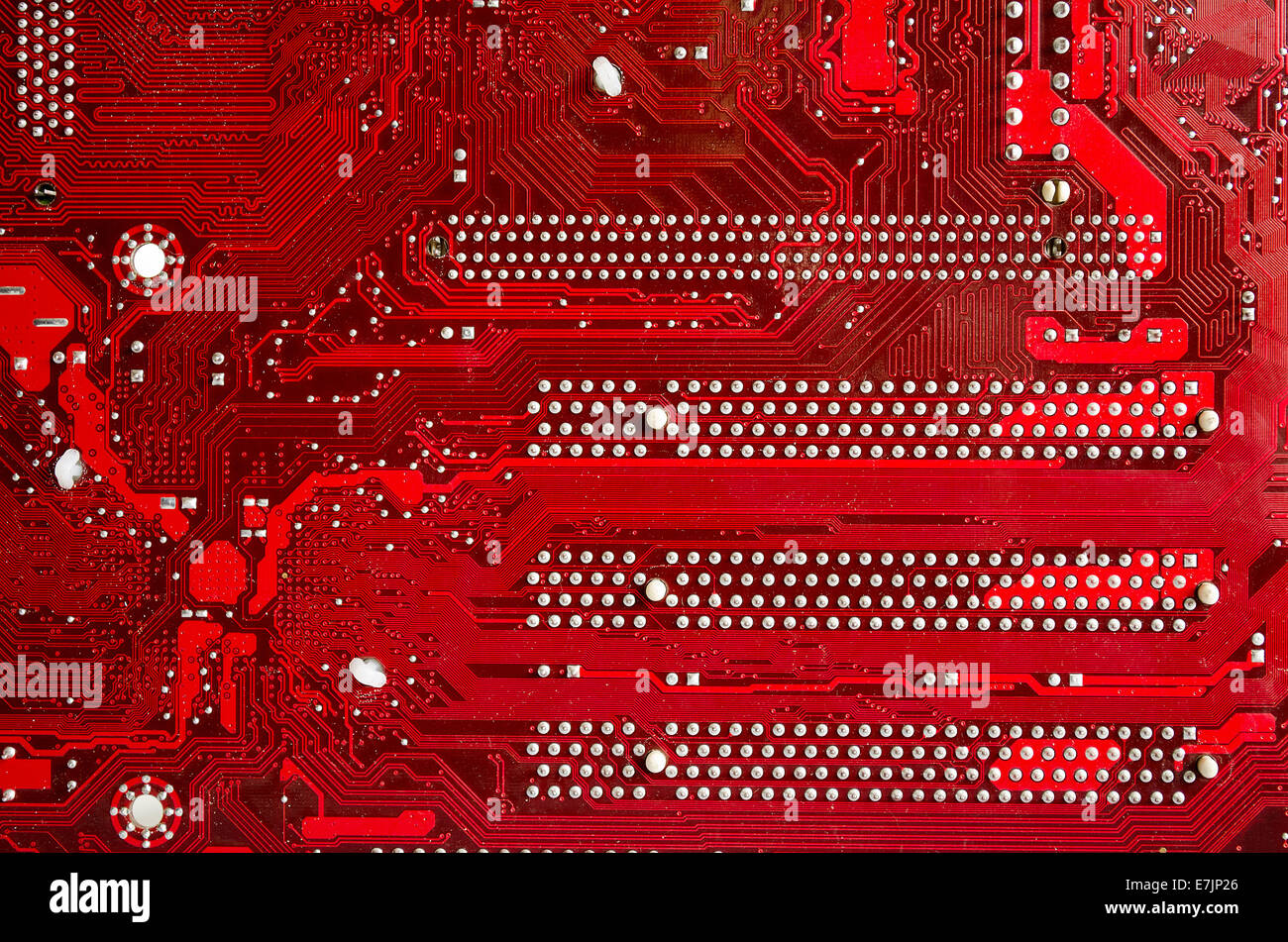 Circuit Board Red Stock Photos Images Alamy Royalty Free Image Of Background From Close Up Closeup A Printed