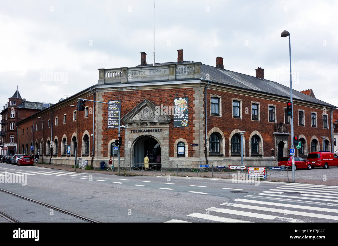 Kulturhuset Toldkammeret (The House of Culture) in the old Toldkammer in Elsinore Denmark - Stock Image