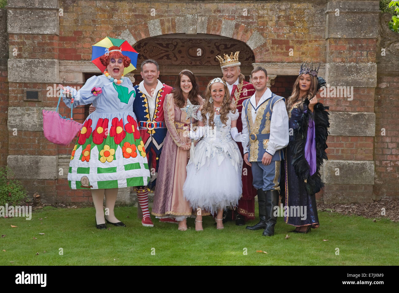 The cast at Bromley's Churchill Theatre's Pantomime Sleeping