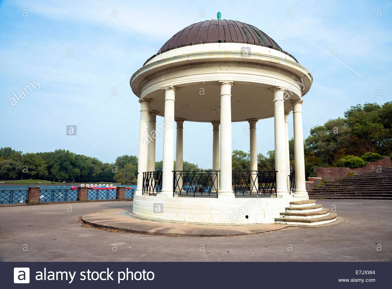 Stanley Park bandstand at Blackpool, Lancashire, UK. - Stock Image