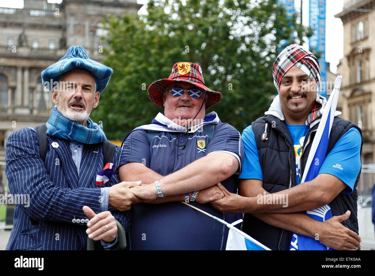 George Square, Glasgow, Scotland, UK, Friday, 19th September, 2014. On the day after Scotland Voted in the Independence Stock Photo