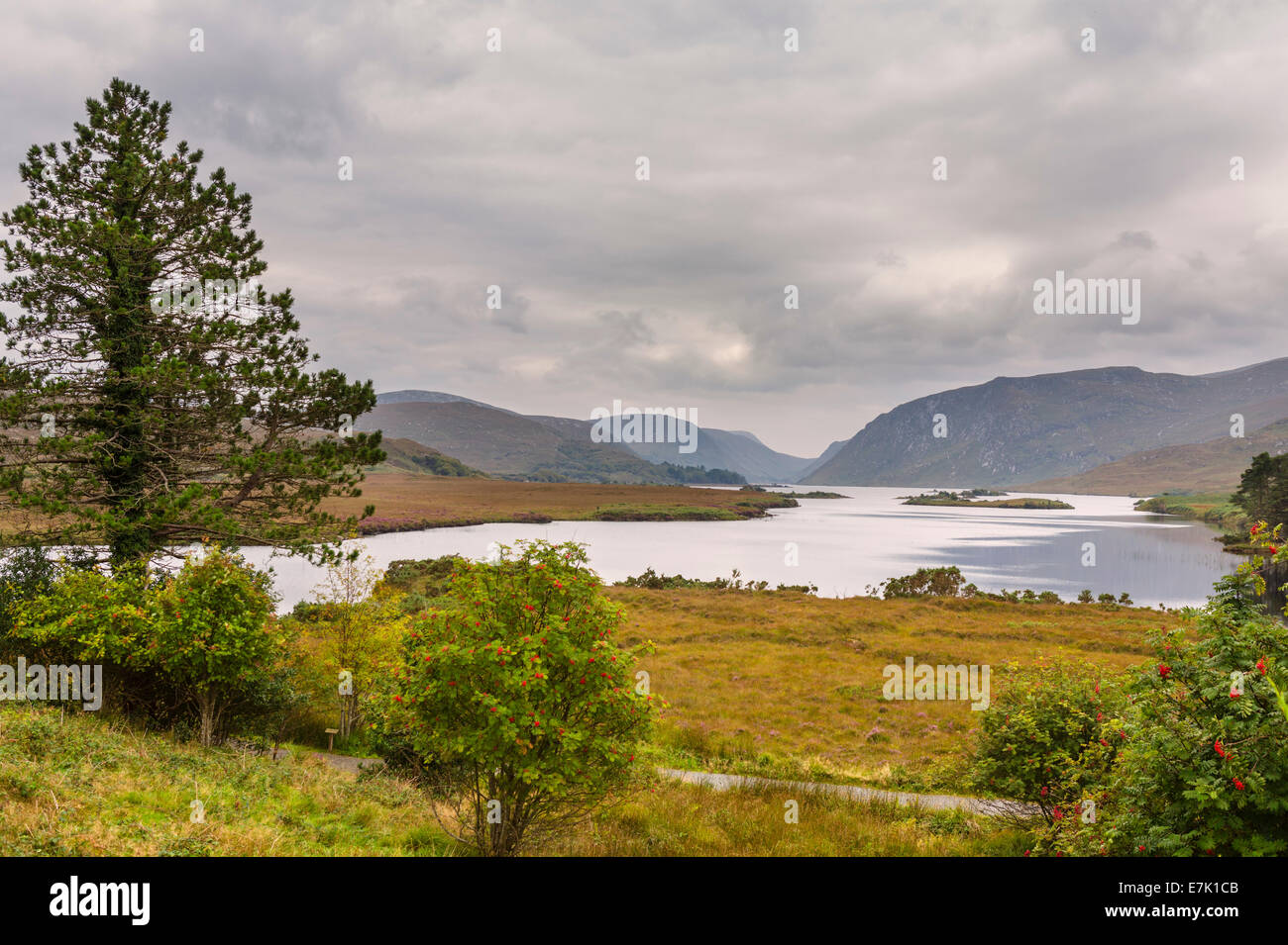 Lough Veagh at Glenveagh National Park, County Donegal, Republic of Ireland - Stock Image