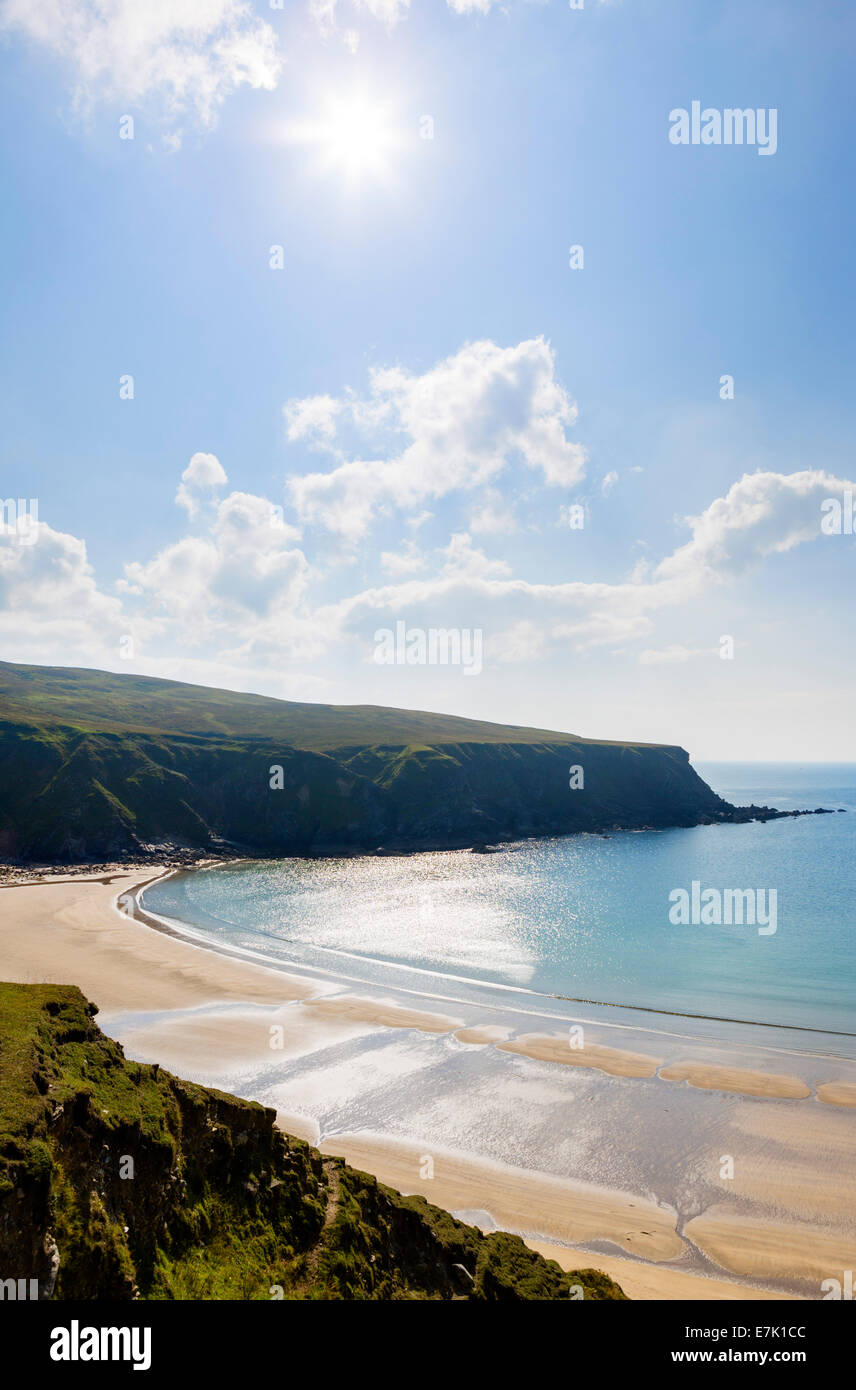Silver Strand Beach at Malinbeg in Southwest County Donegal, Wild Atlantic Way, Republic of Ireland - Stock Image