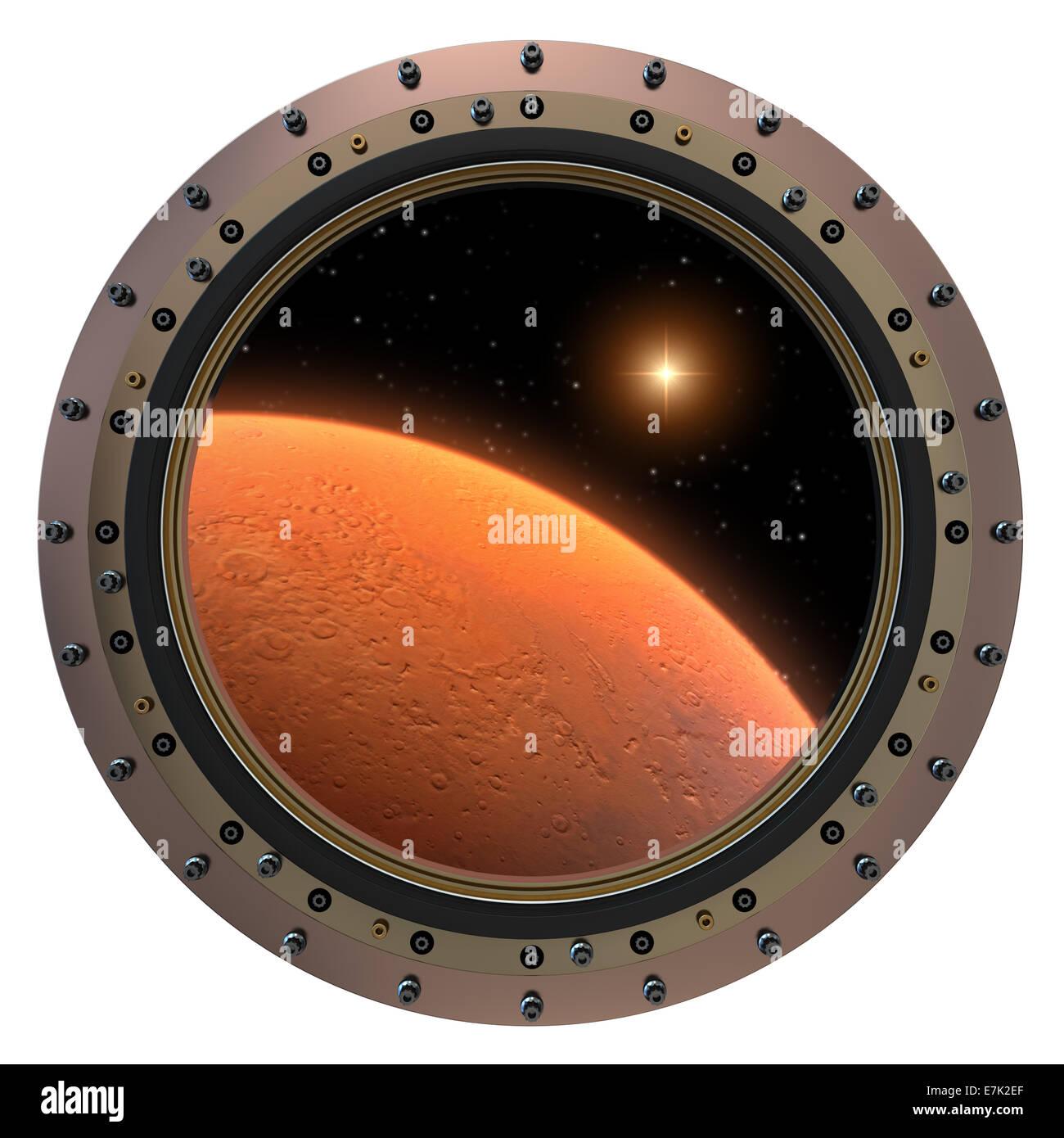 Mars Spacecraft Porthole - Stock Image