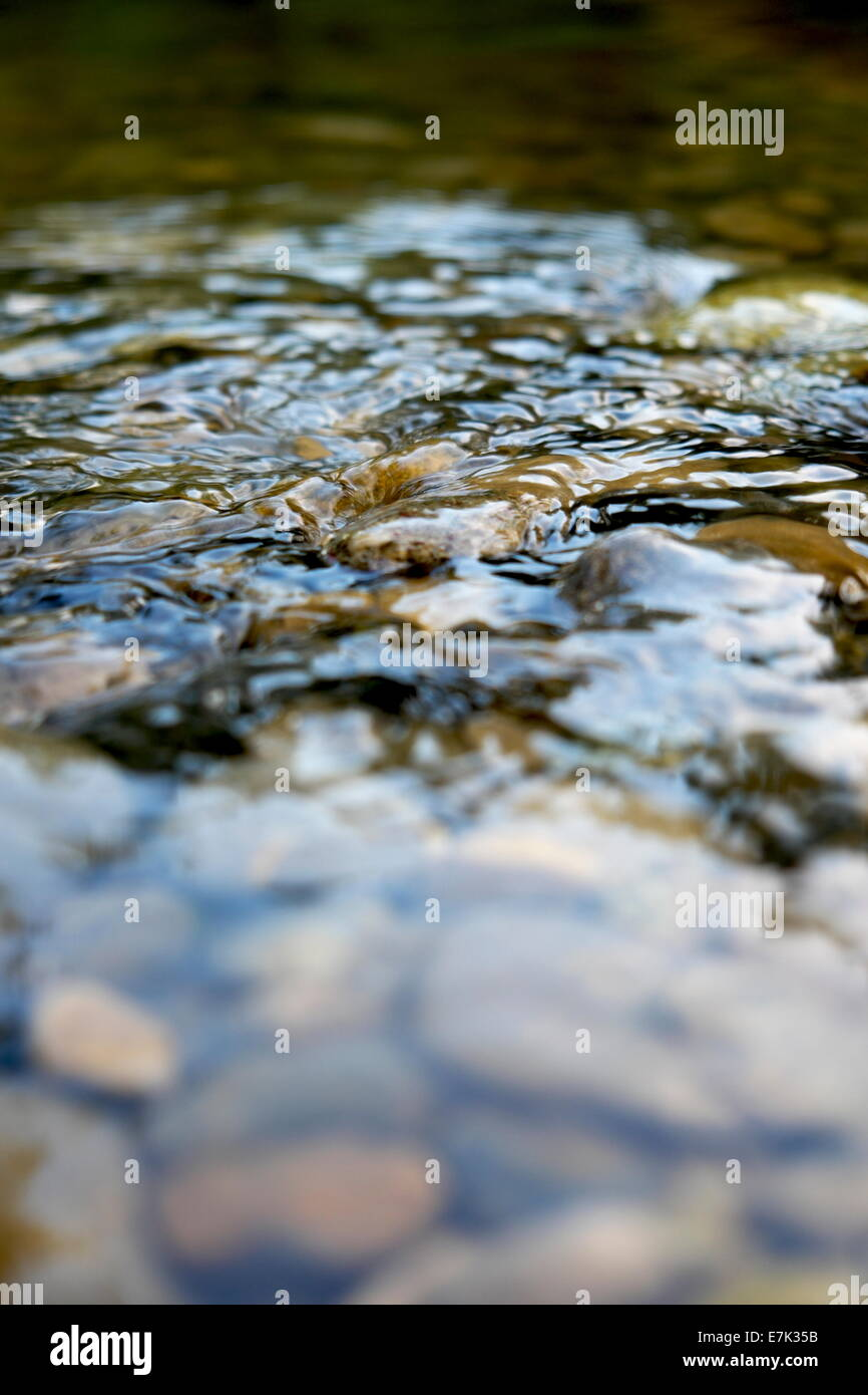 Water on a river - Stock Image
