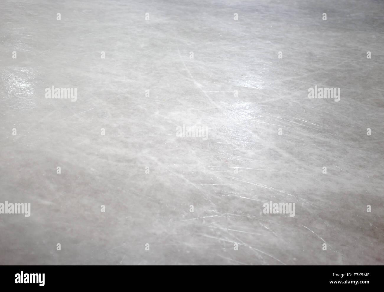 Ice skate floor - Stock Image