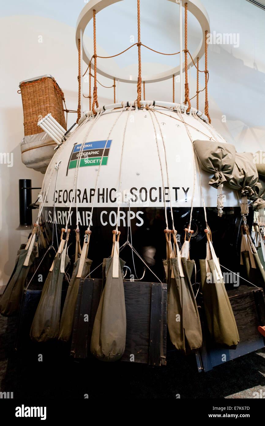 National Geographic Society Explorer II gondola - USA - Stock Image
