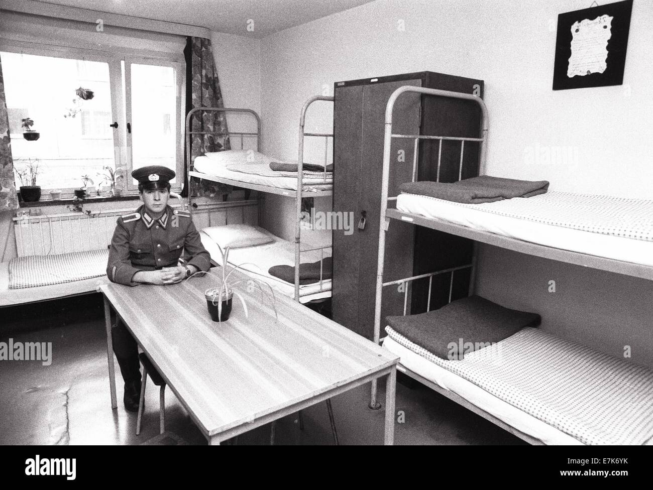 Bad Salzungen, East Germany. 9th Feb, 1990. Soldiers from