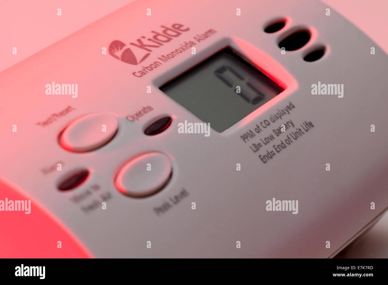 Kidde carbon monoxide alarm - USA - Stock Image