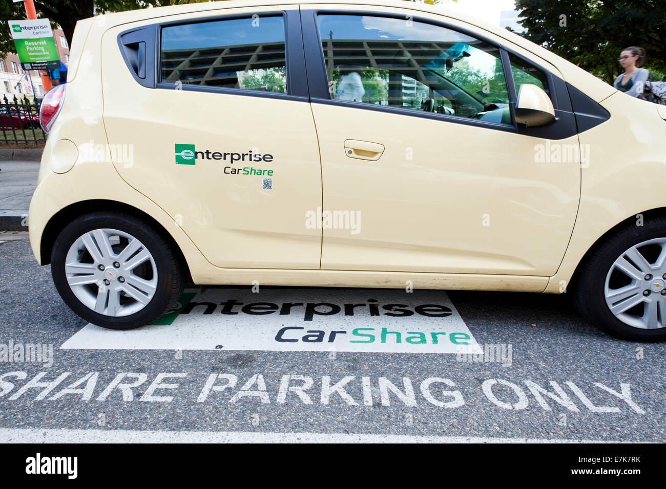 Enterprise Car Share Number >> Enterprise Carshare Washington Dc Usa Stock Photo
