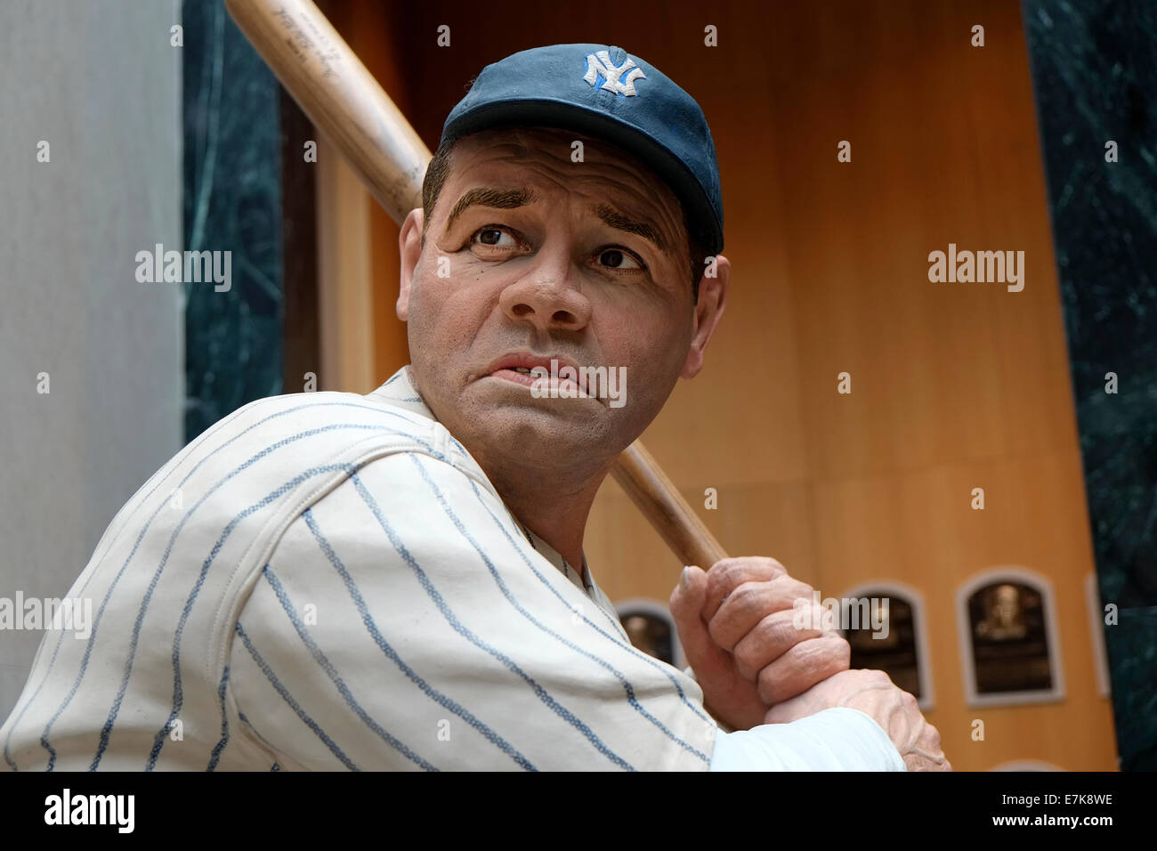 babe ruth National Baseball Hall of Fame Museum at Cooperstown New York Stock Photo