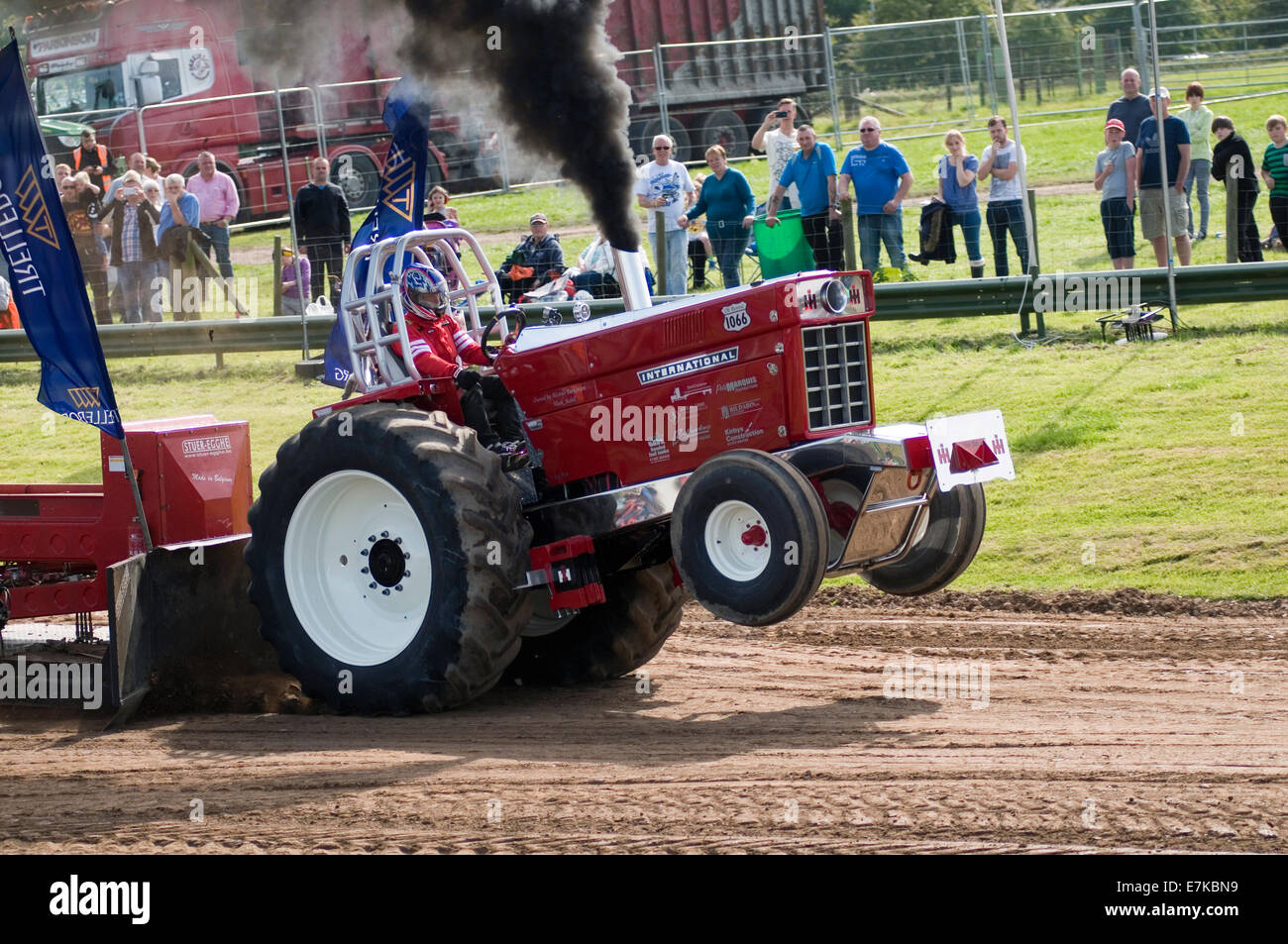 Tractor Pull Sled Flag : Tractor pulling puller pullers wheelie dragging a weighted