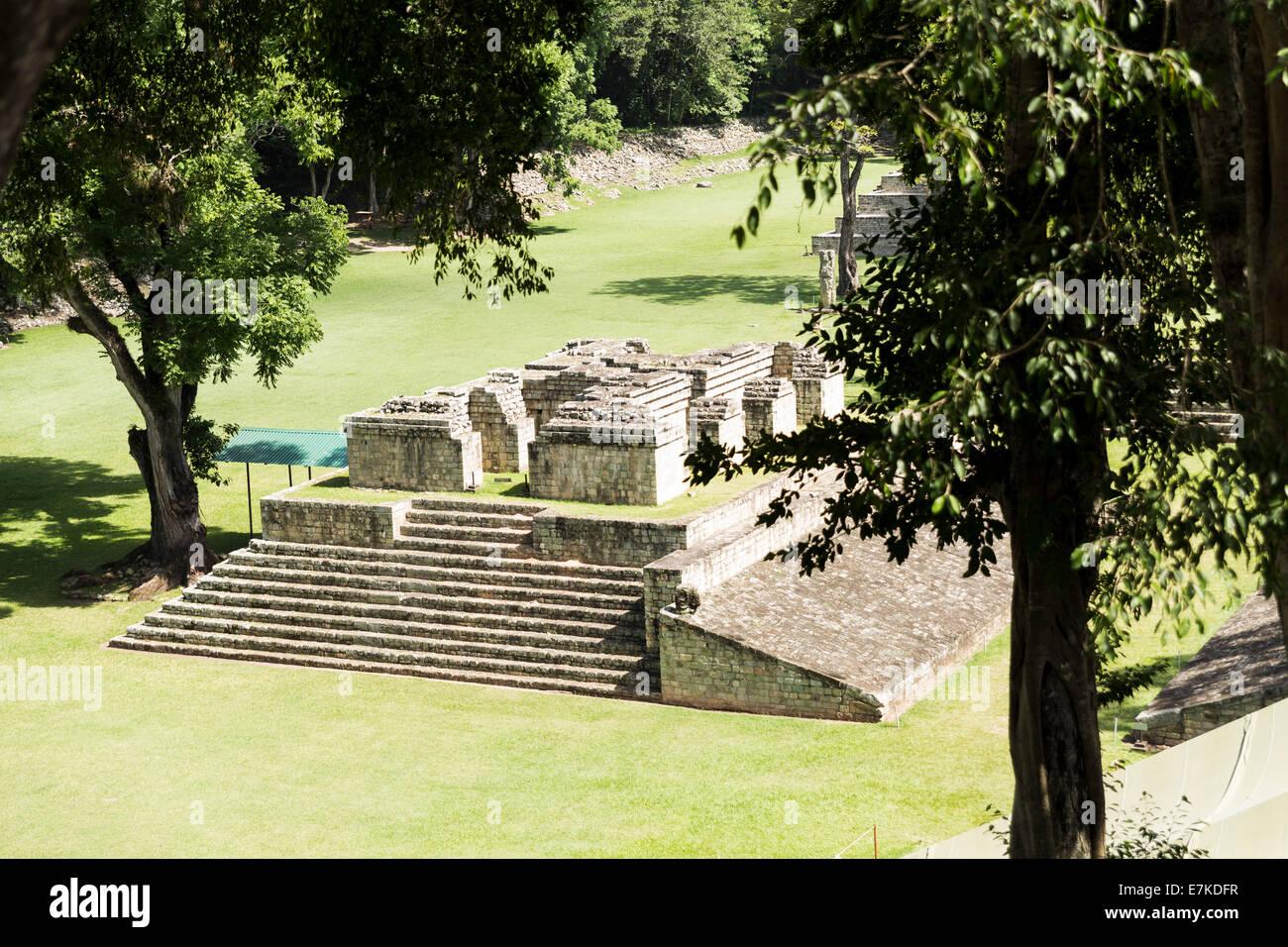 The Great Plaza,  Copan Ruinas Archaeological Park, Copan, Honduras - Stock Image