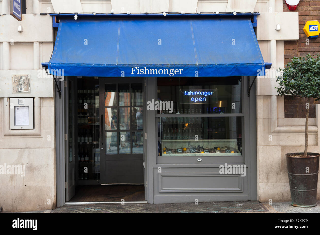 FishWorks fishmonger and restaurant on Swallow Street, Piccadilly, London, England, U.K. Stock Photo
