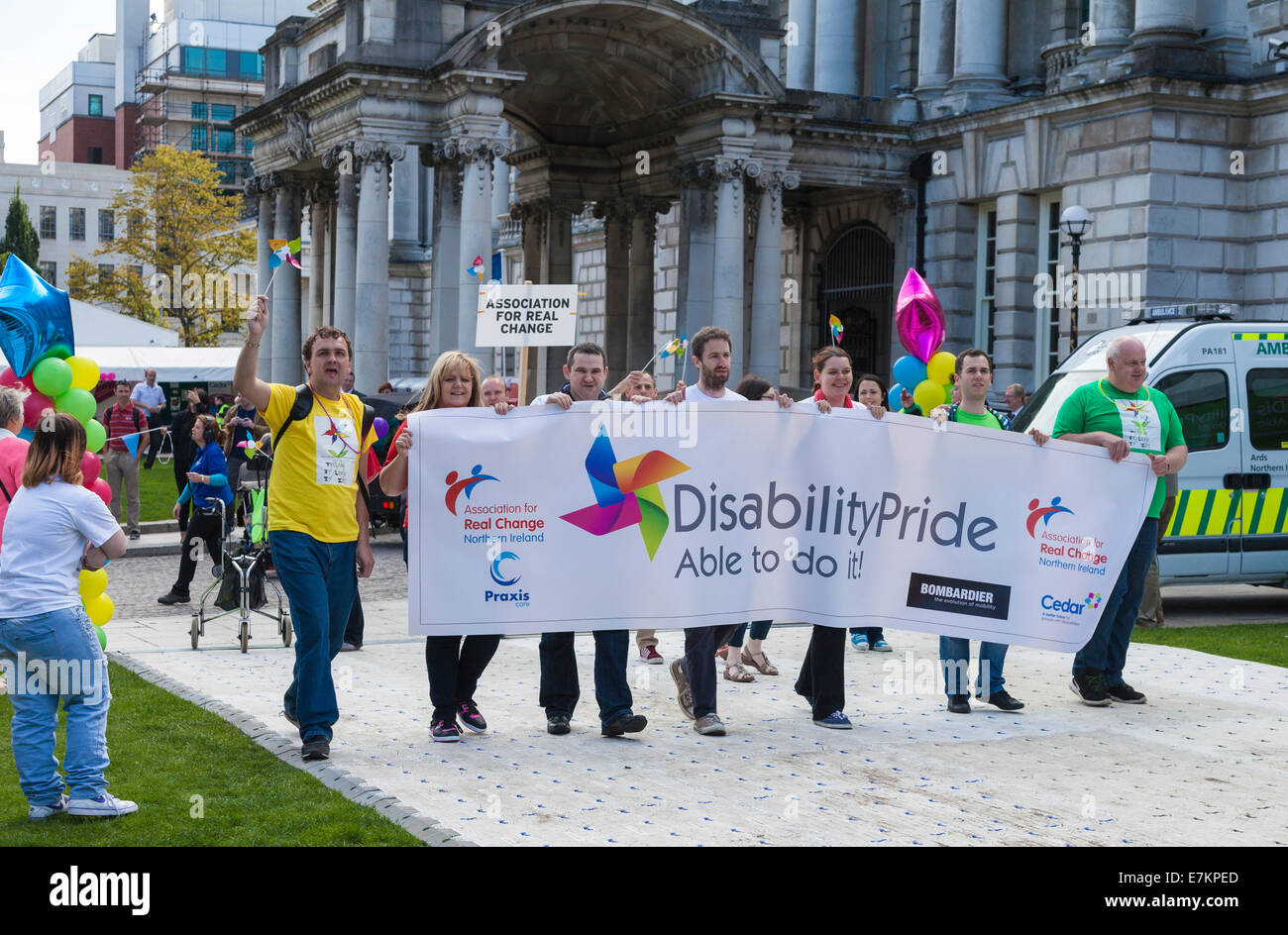 Belfast, Northern Ireland, UK. 20 September 2014. Disability Pride at the City Hall. Credit:  J Orr/Alamy Live News - Stock Image
