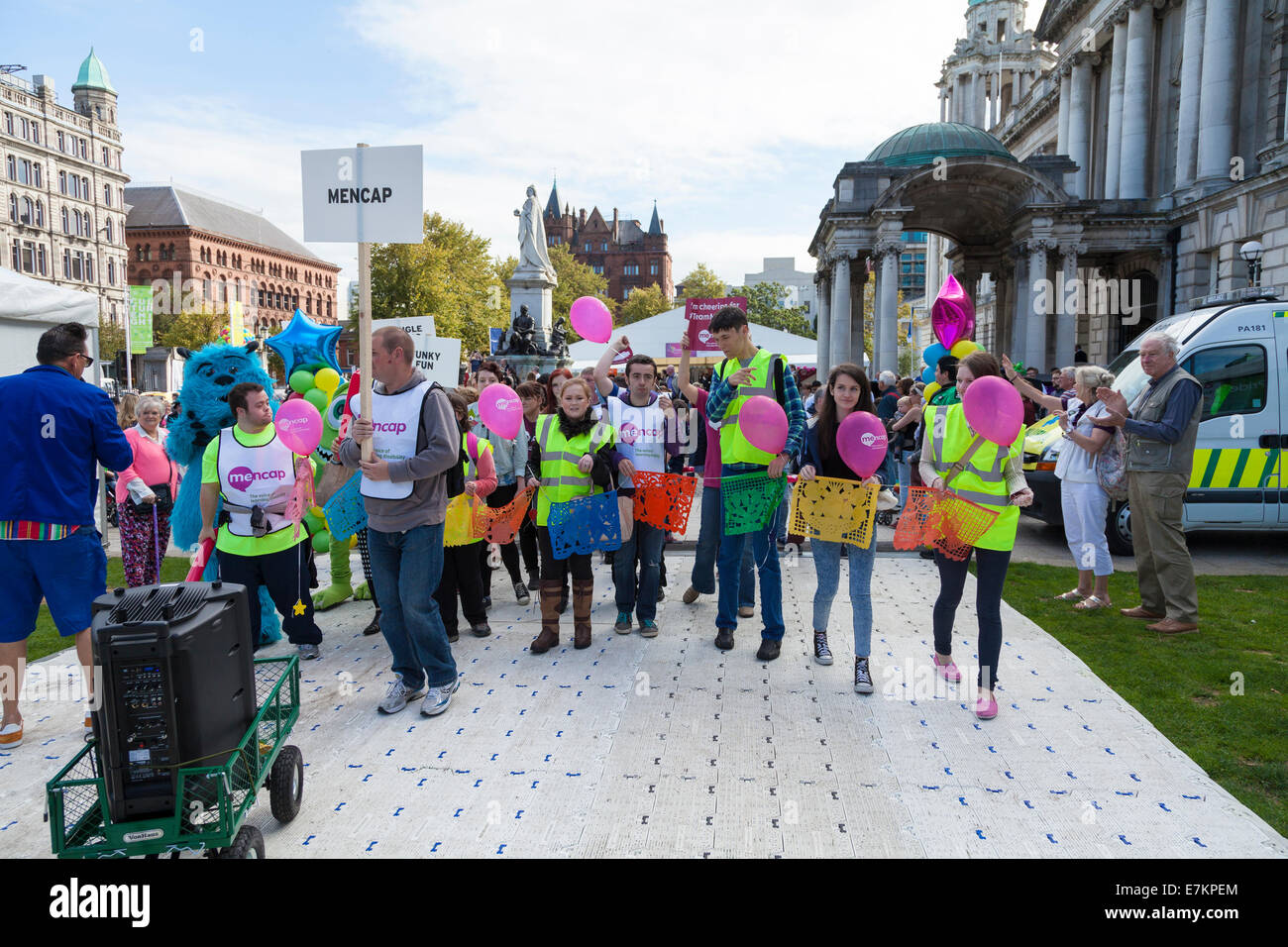 Belfast, Northern Ireland, UK. 20 September 2014. Disability Pride, MENCAP at the City Hall. Credit:  J Orr/Alamy - Stock Image
