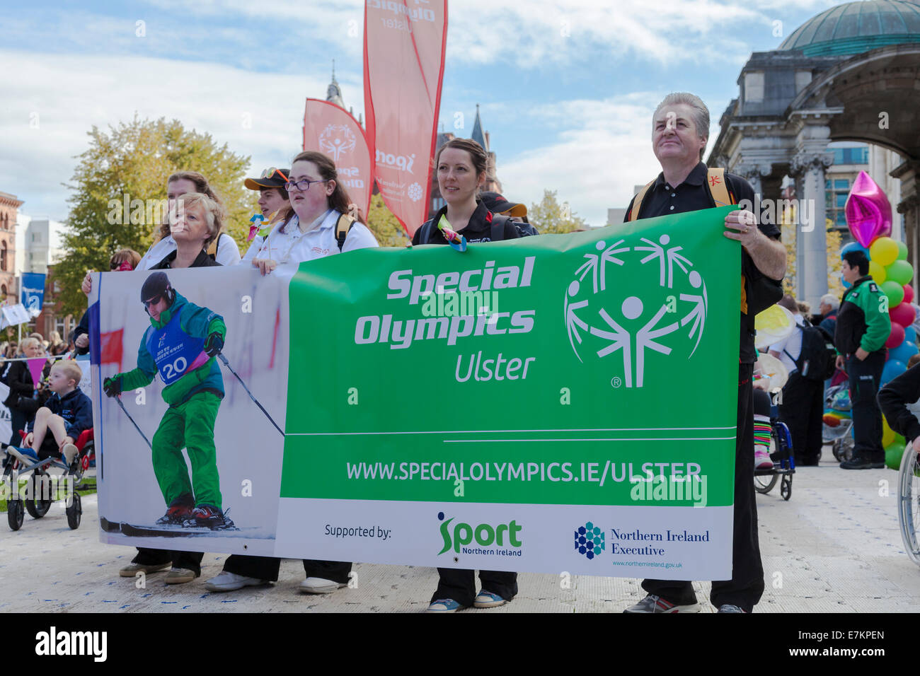 Belfast, Northern Ireland, UK. 20 September 2014. Disability Pride, Special Olympics, Ulster, City Hall. Credit: - Stock Image