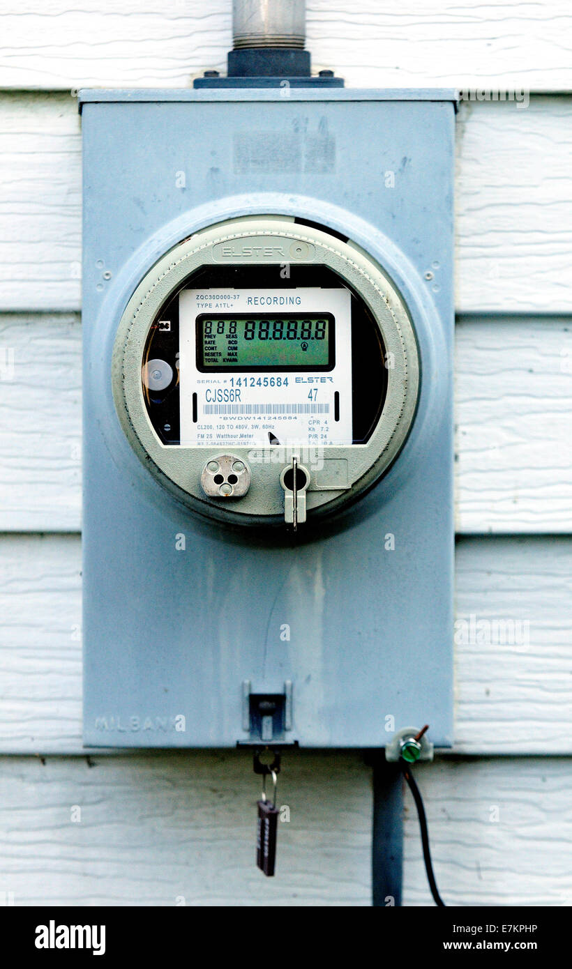 New Smart Electricity Meter - Stock Image