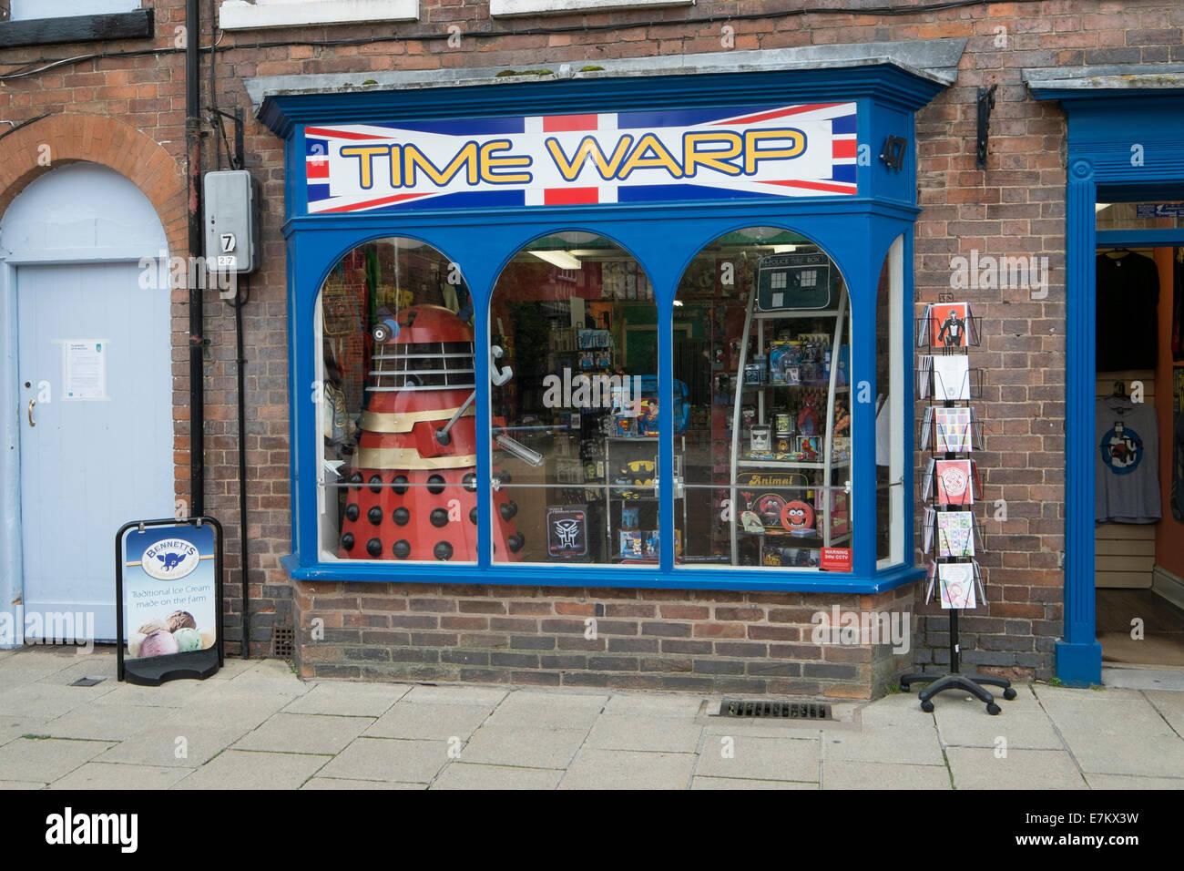Time Warp Novelty Shop in Stratford - Stock Image