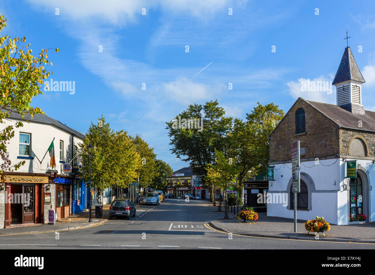 Market Square in the centre of Kildare Town, County Kildare, Republic of Ireland - Stock Image