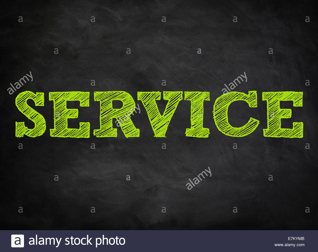 SERVICE - chalkboard concept - Stock Image