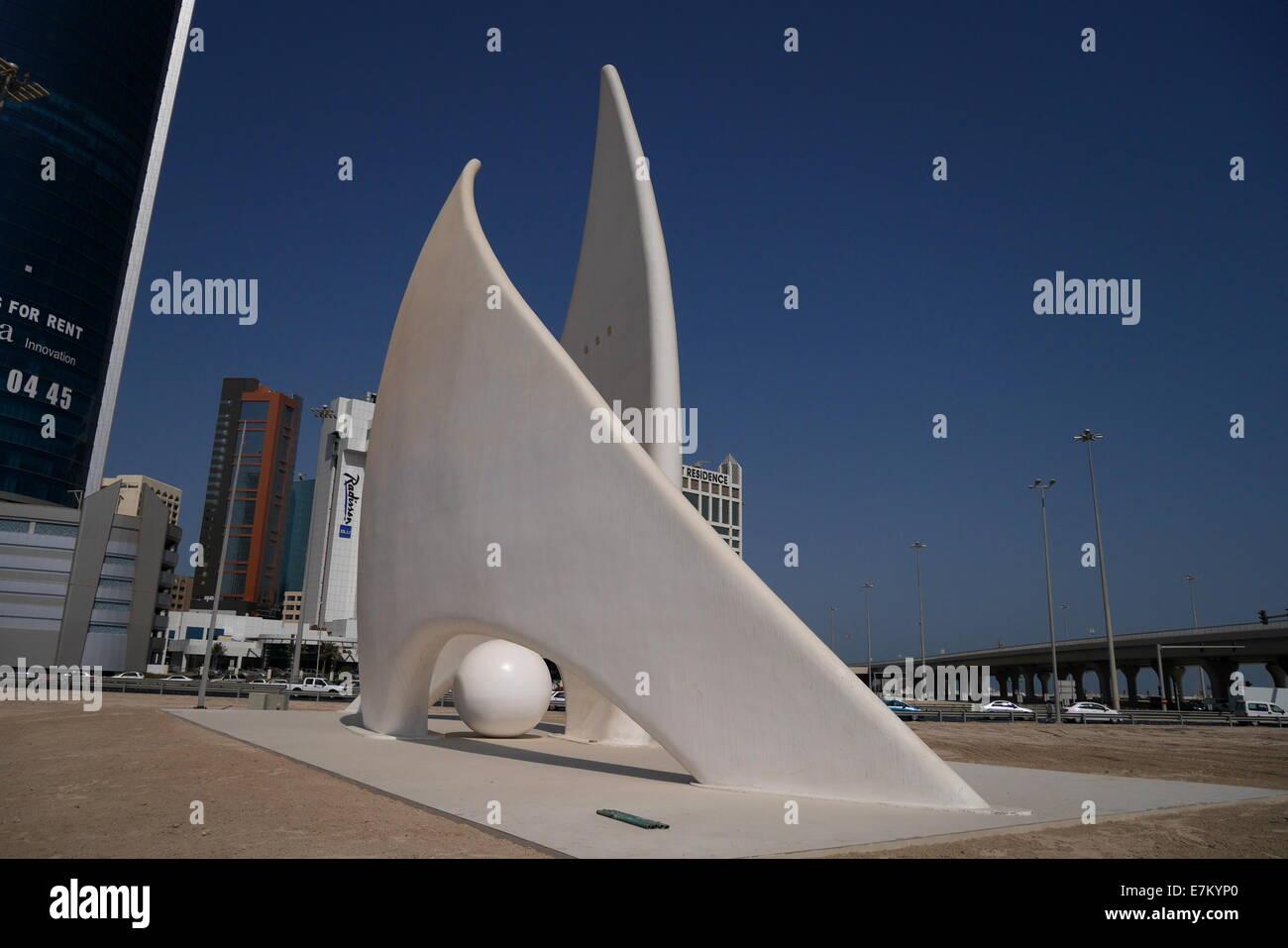 The Sail Monument, Manama, Kingdom of Bahrain - Stock Image