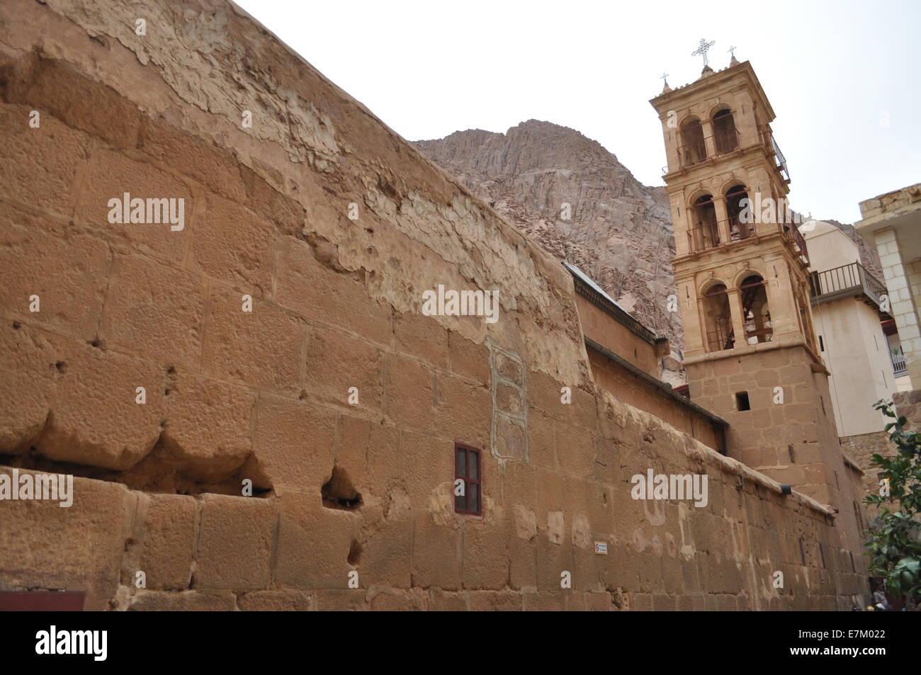Egypt: Saint Catherine's Monastery at Mount Sinai - Stock Image