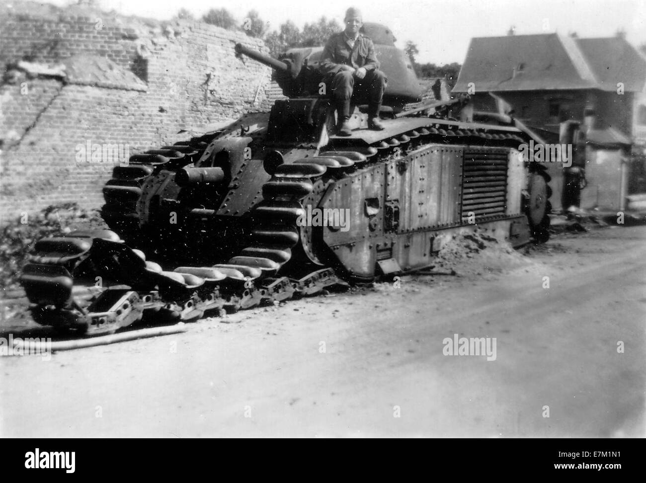 Disabled Char B1 1940 - Stock Image