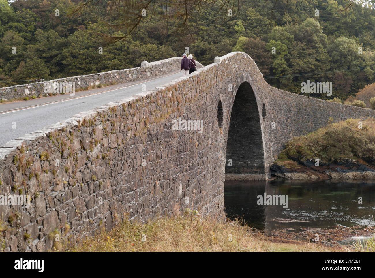 Balvicar Bridge Built in 1792 - Stock Image