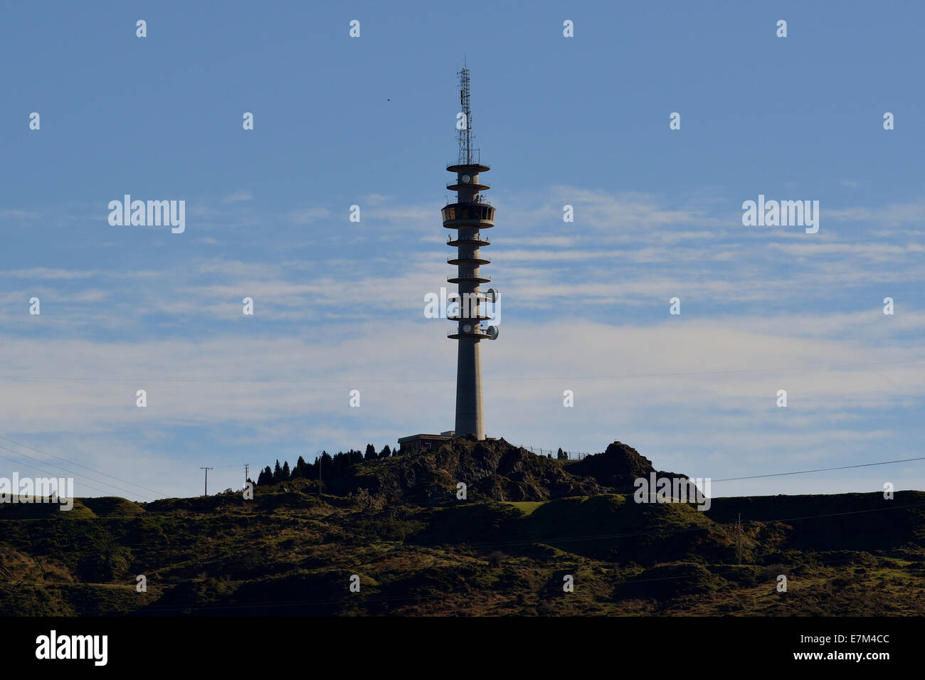 Signal Repeater, in a beautiful landscape - Stock Image