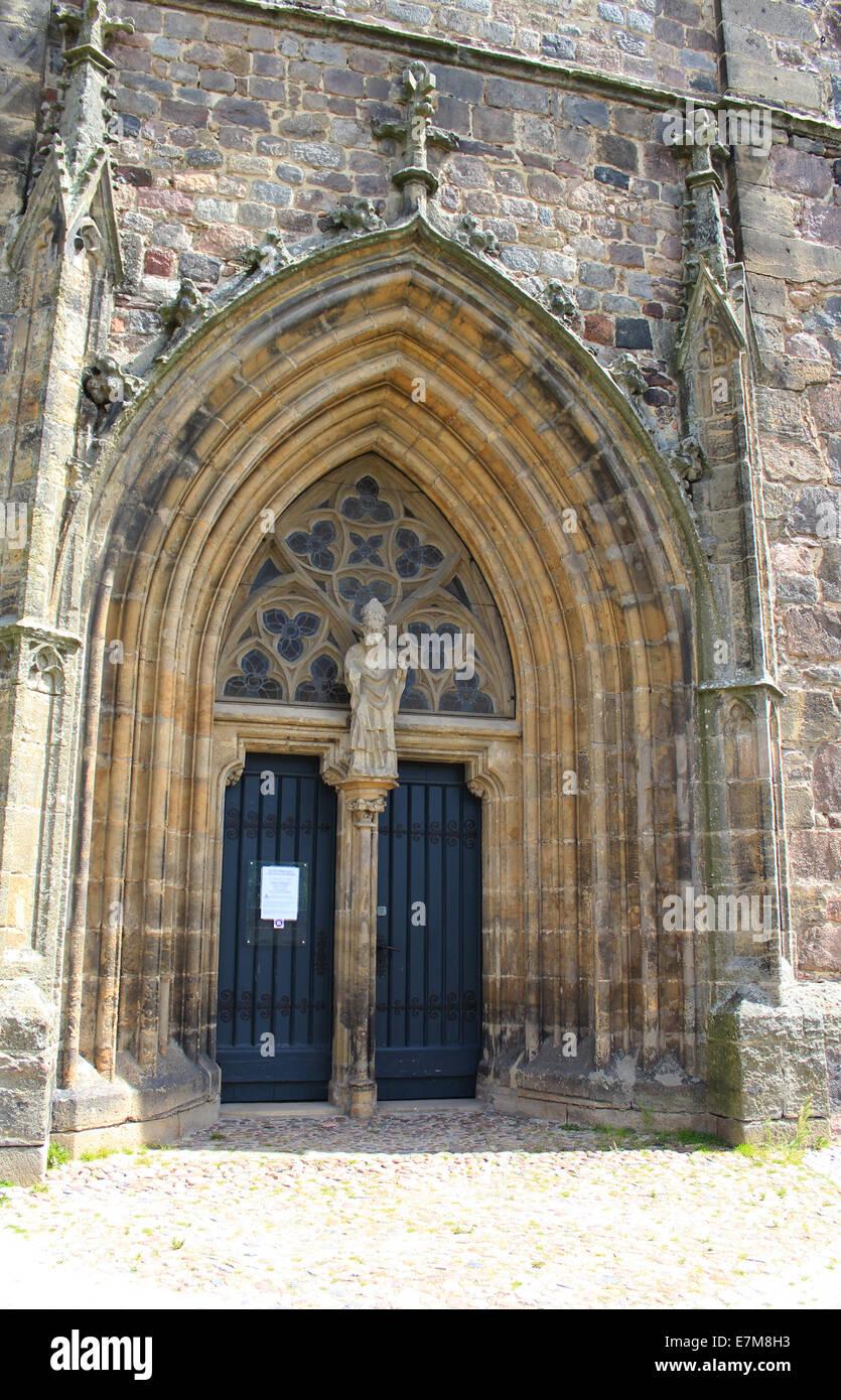 Door of a church - Stock Image