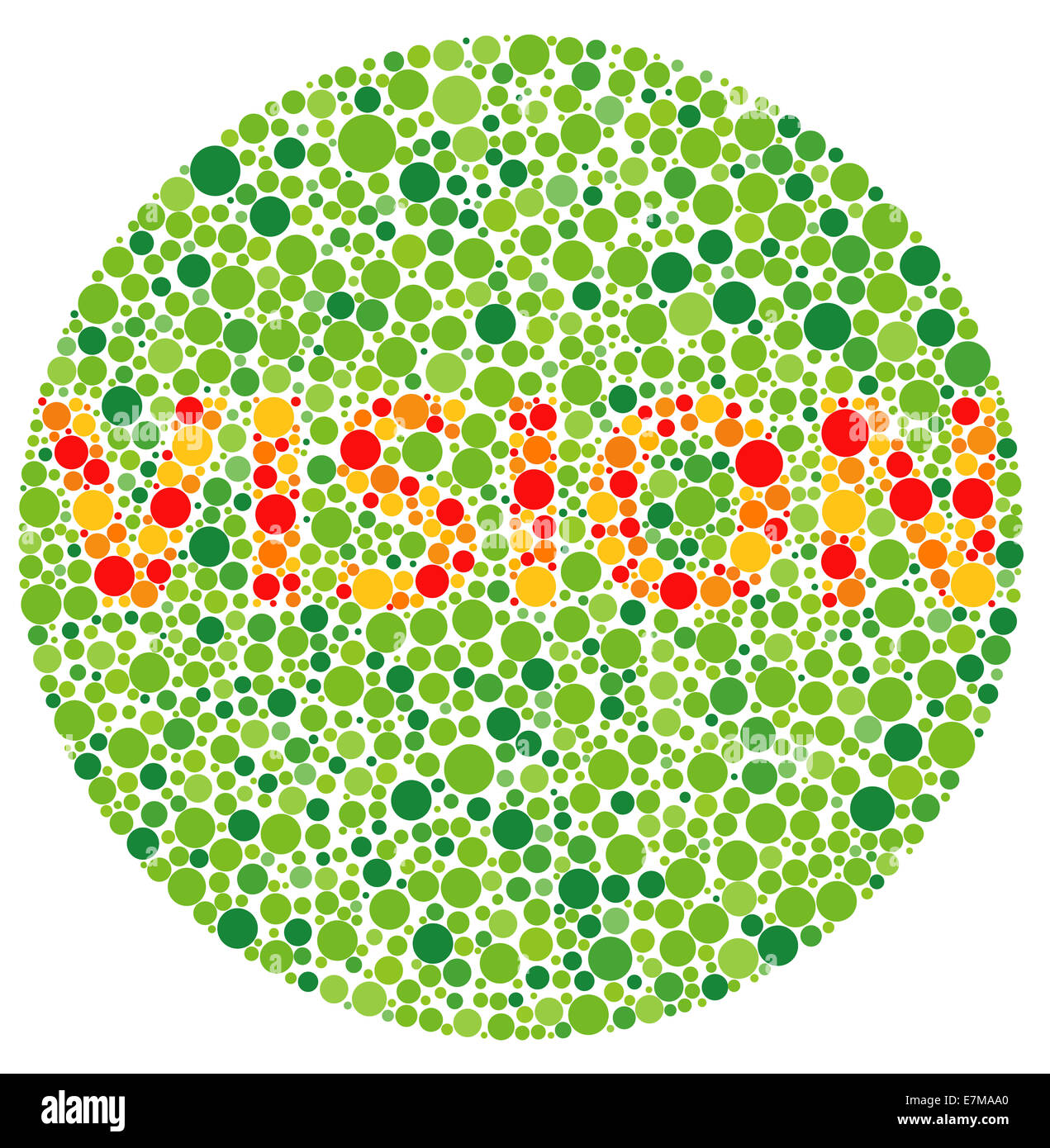 Colour blindness vision stock image