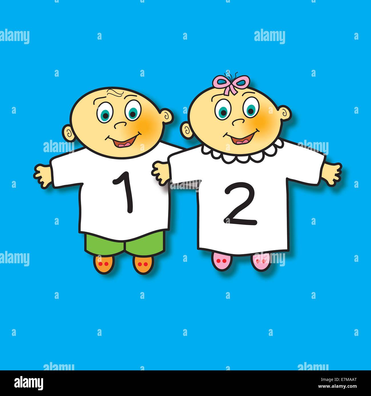 Boy Girl Twins Babies Stock Photos & Boy Girl Twins Babies Stock ...